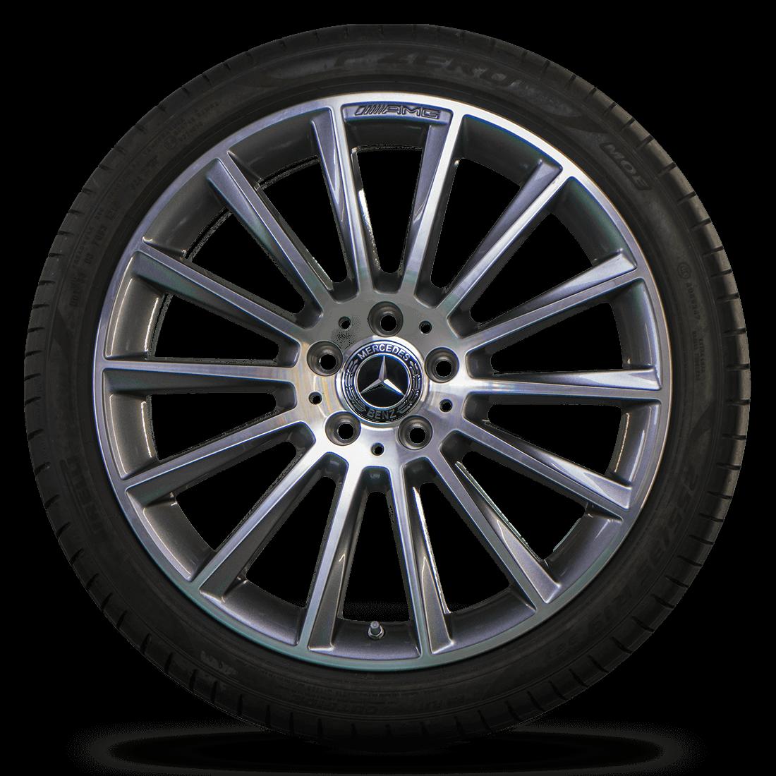AMG 19 inch rims Mercedes Benz C-Class W205 S205 C205 aluminum rims summer tires