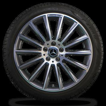 AMG 19 inch rims Mercedes Benz C-Class W205 S205 C205 aluminum rims summer tires – Bild 4