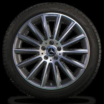 AMG 19 inch rims Mercedes Benz C-Class W205 S205 C205 aluminum rims summer tires – Bild 5
