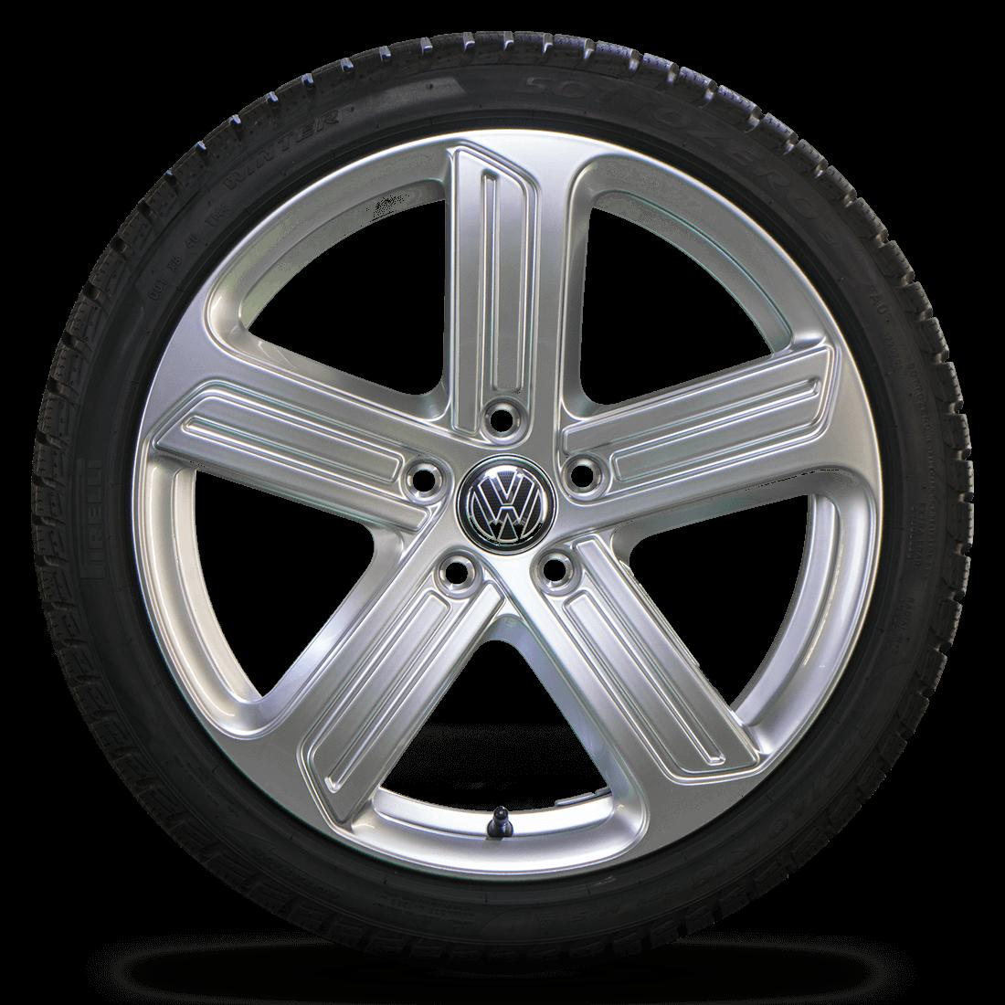 VW 18 Inch Rims Golf 7 6 GTI GTD Cadiz Alloy Wheels Winter Tires Winter Wheels