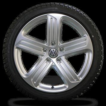 VW 18 Zoll Felgen Golf 7 6 GTI GTD Cadiz Alufelgen Winterreifen Winterräder NEU – Bild 3