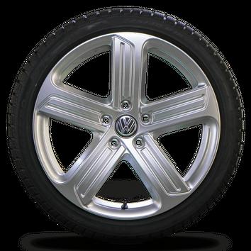 VW 18 Zoll Felgen Golf 7 6 GTI GTD Cadiz Alufelgen Winterreifen Winterräder NEU – Bild 4