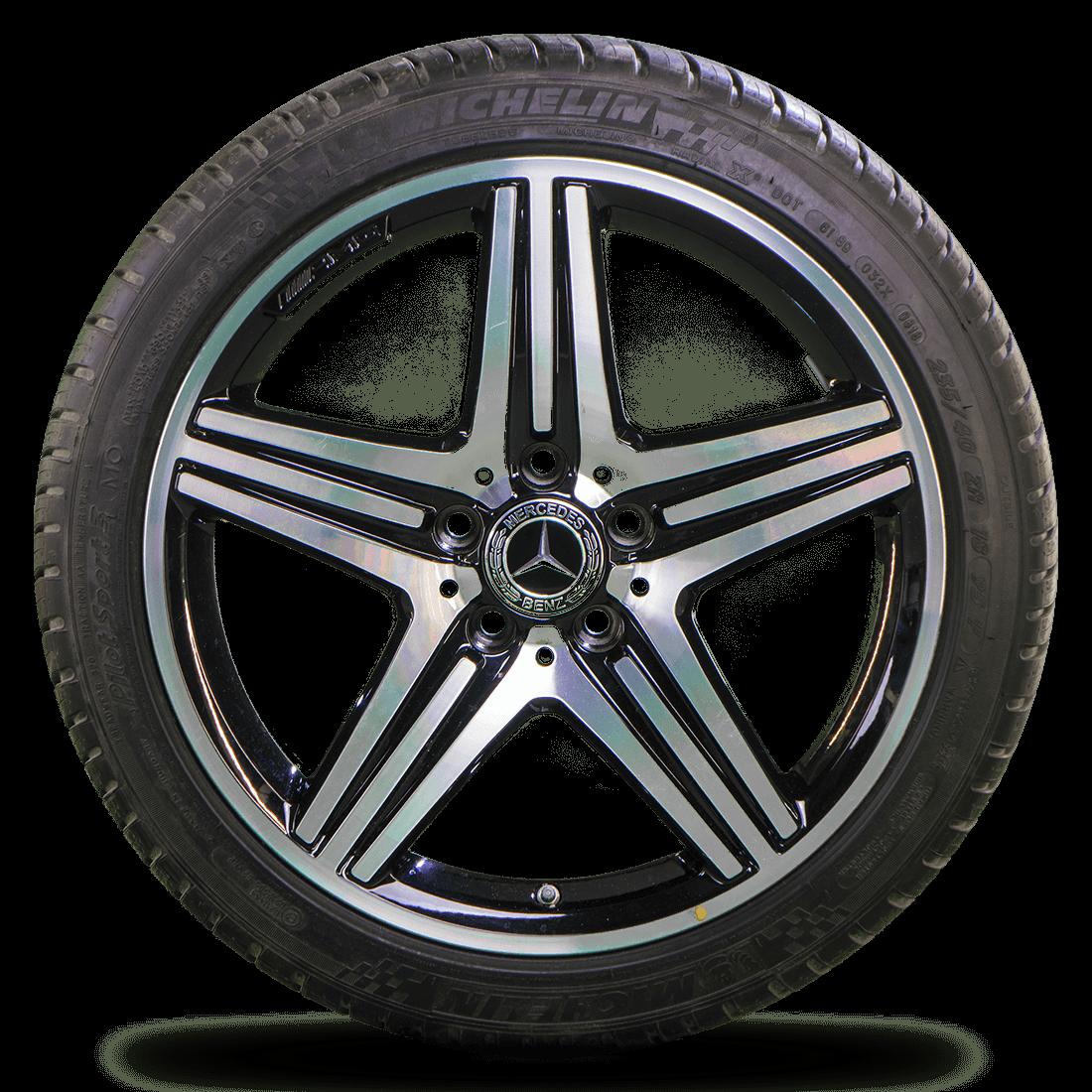 Mercedes 18 Zoll A-Klasse A45 AMG W176 W245 Alufelgen Sommerreifen Sommerräder