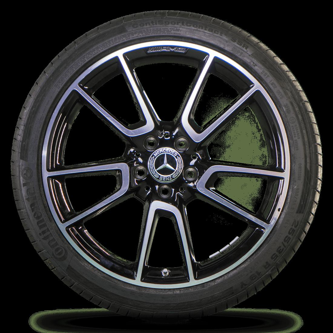 AMG 19 inch rims Mercedes Benz C43 450 Sport W205 summer tires summer wheels