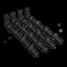20x Radschrauben Kugelbund M14 x 1,5 x 45 mm schwarz für Mercedes E-Klasse W213 W238