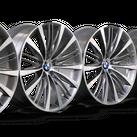 BMW 21 inch rims 5er F10 F11 GT F07 7er F01 F02 alloy rims V-spoke 463 NEW