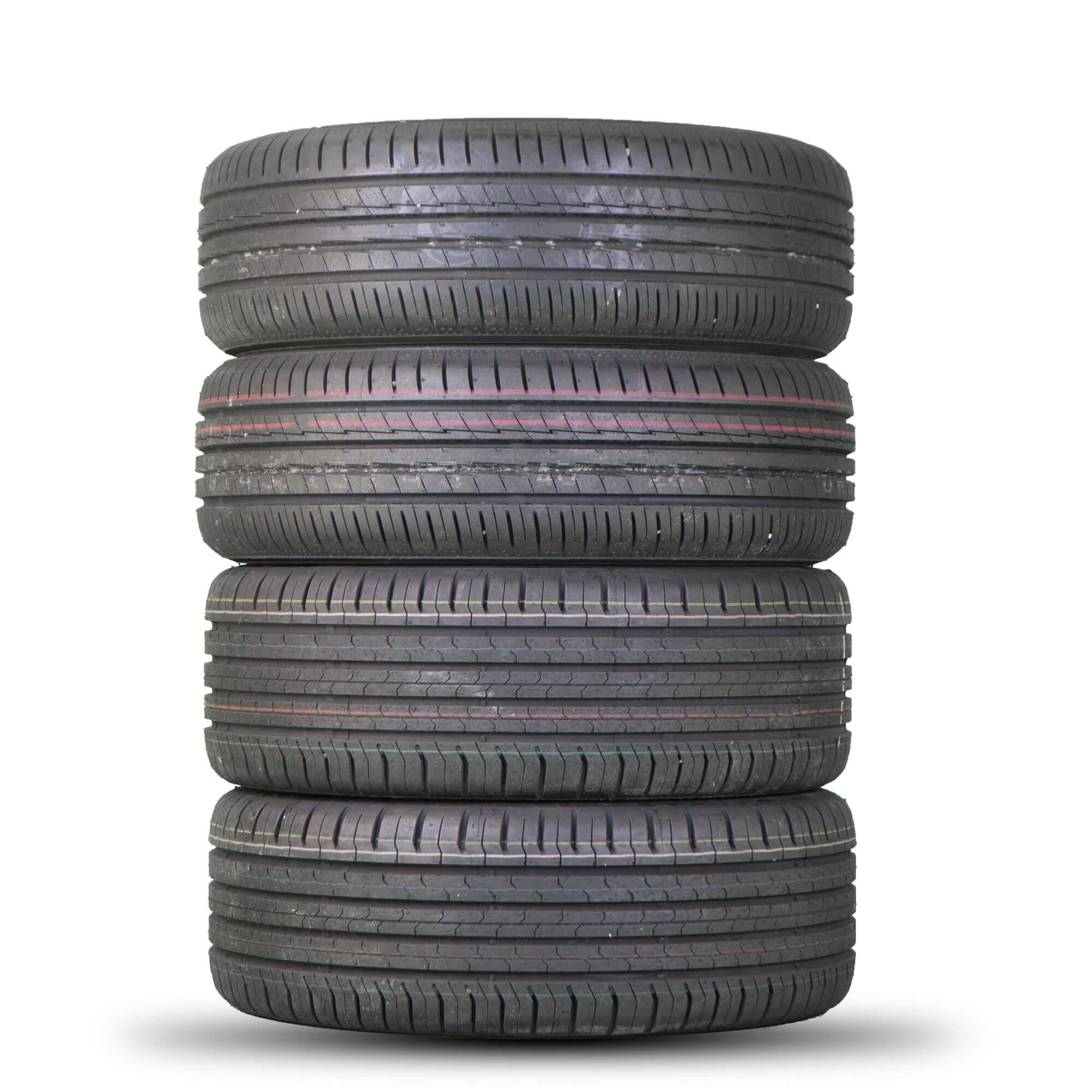 Smart como nuevo Neumáticos de verano neumáticos continental ecocontact 5 185//50 r16 81h por ejemplo