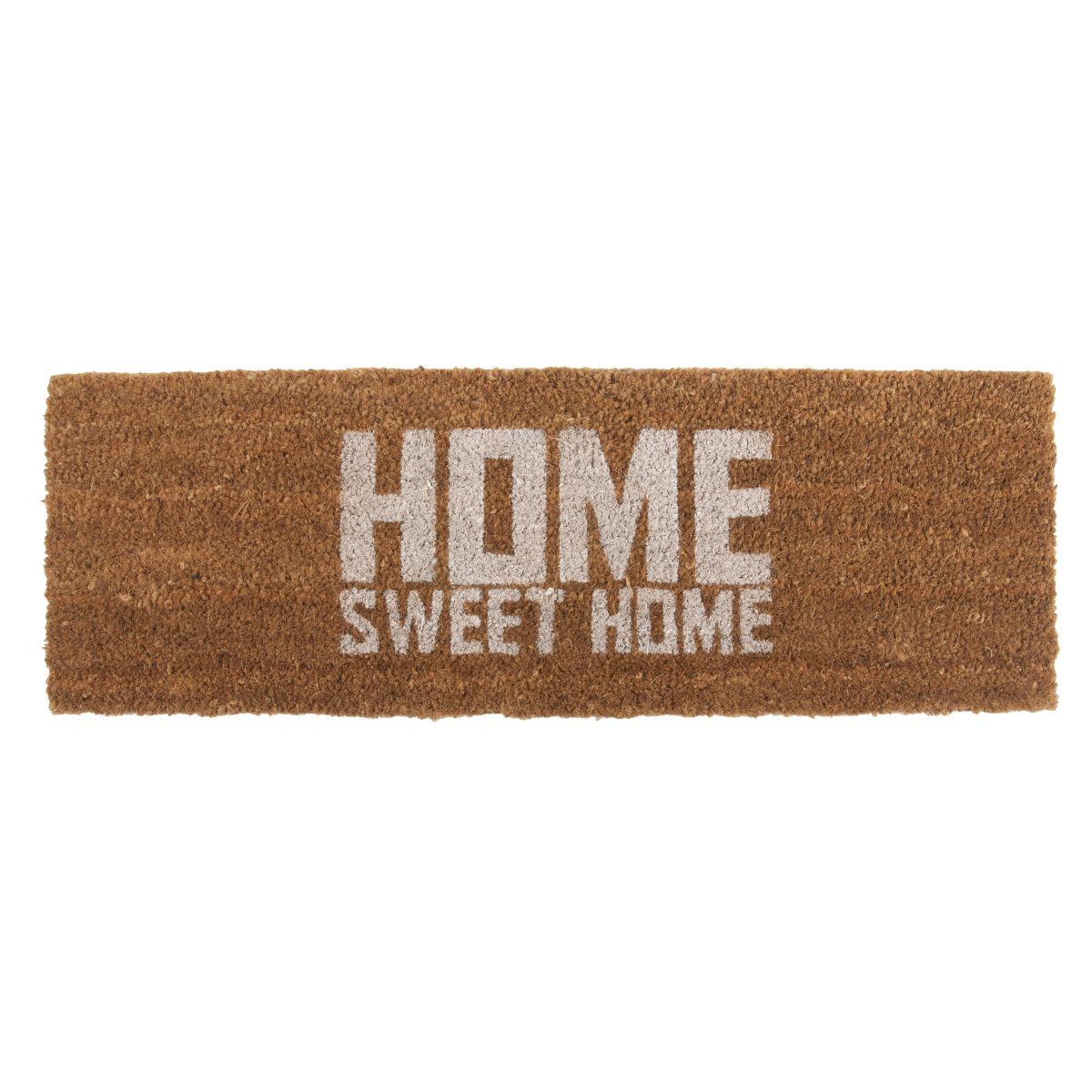 Elegant Fußmatte Beige Beste Wahl Kokos-fussmatte-home-sweet-home-natur-beige-schmale-