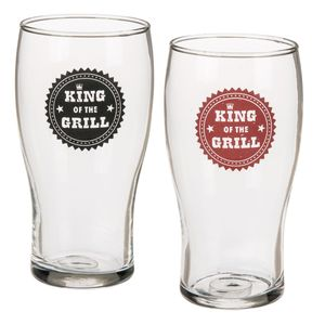 Bierglas King of the Grill, 540 ml | Rot