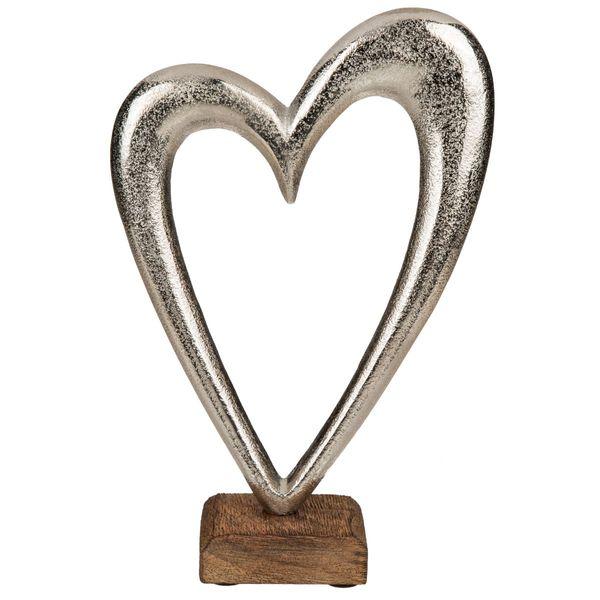 Dekoherz Metall auf Holz Standfuß ( M )