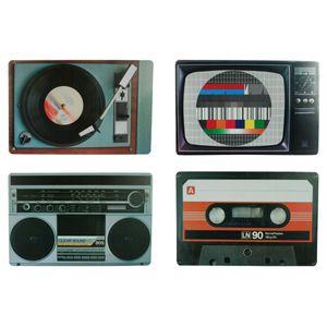 Tischset Nostalgische Hifi 4er-Set