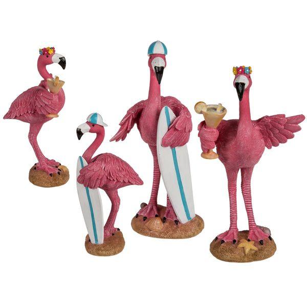 Deko Figur Flamingo Polyresin ca. 17 cm, 2 Modelle