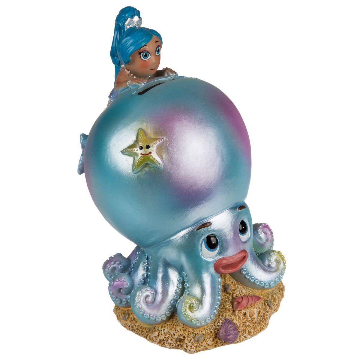 Spardose Meerjungfrau Auf Krake Blau