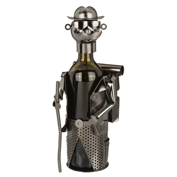 Flaschenhalter  / Weinflaschenhalter Wanderer Metall