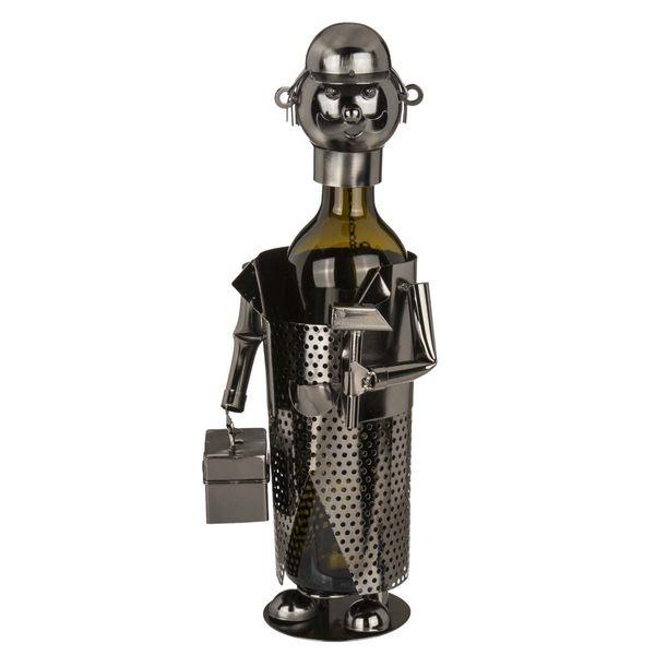 Flaschenhalter  / Weinflaschenhalter Handwerker Metall