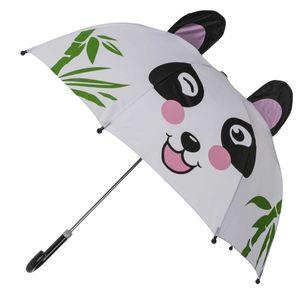 Kuppel Regenschirm Panda | Weiß Schwarz Rosa Grün