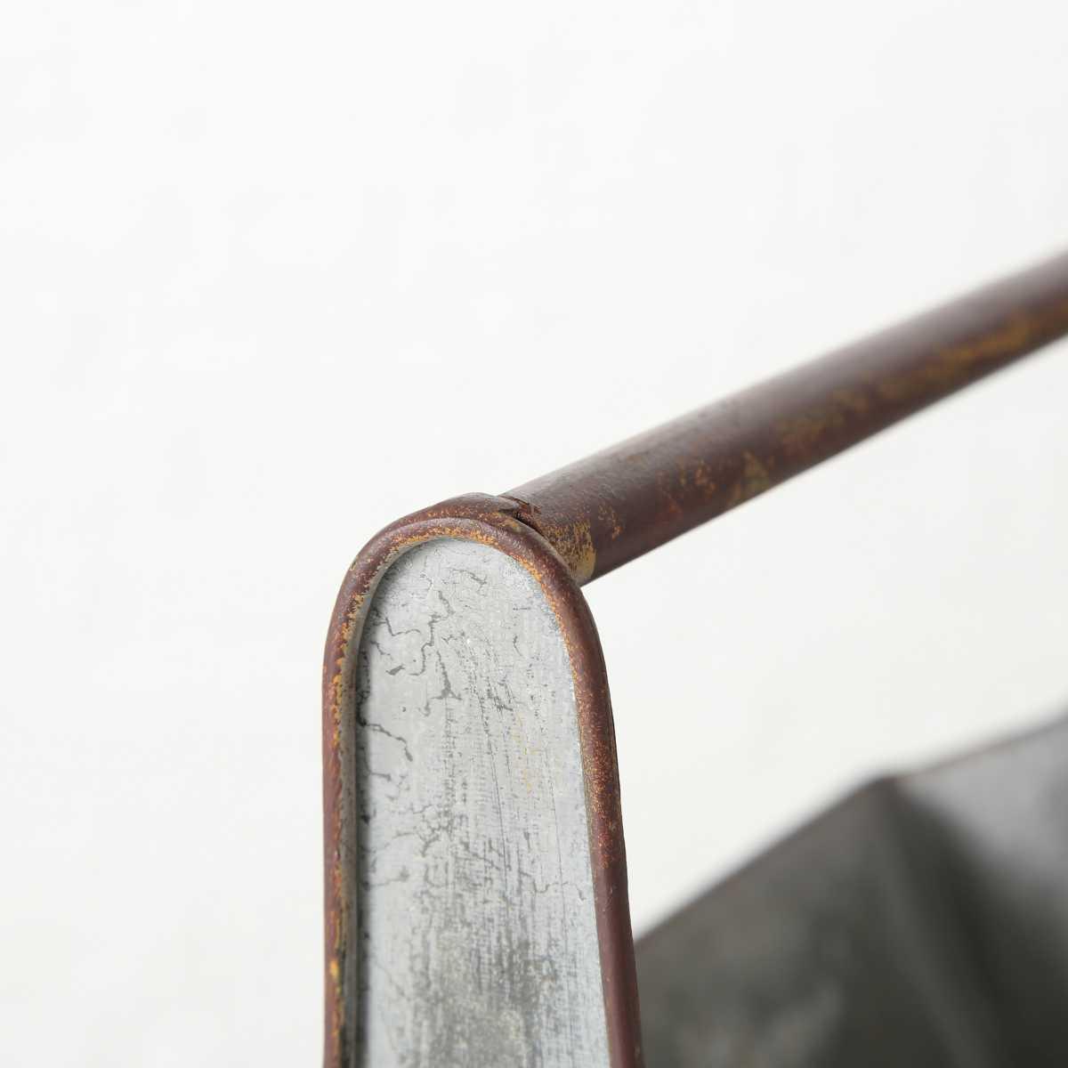 Deko Pflanztopf Carlson Metall Zink Pflanzschale Zinkwanne Zinktopf Vintage 29cm