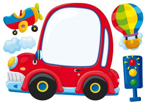 Dekosticker Auto mit Tafel
