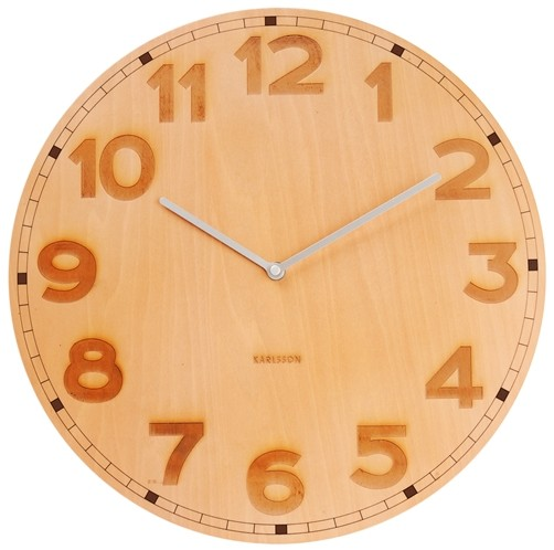 Karlsson Wanduhr Back 2 Basic Holz