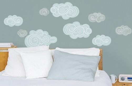 wandtattoo wolken. Black Bedroom Furniture Sets. Home Design Ideas