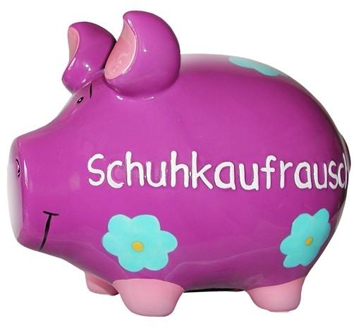 Sparschwein Schuhkaufrausch mittel
