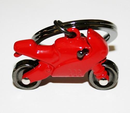 Schlüsselanhänger Motorrad rot