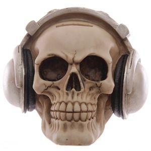 Spardose Totenkopf Skull mit Kopfhörer