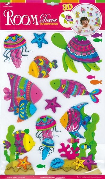 Dekosticker Fische 3D Optik