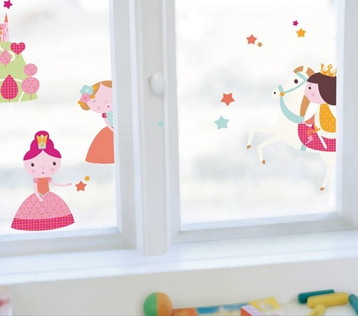 Kinder Fenstersticker Prinzessinnen