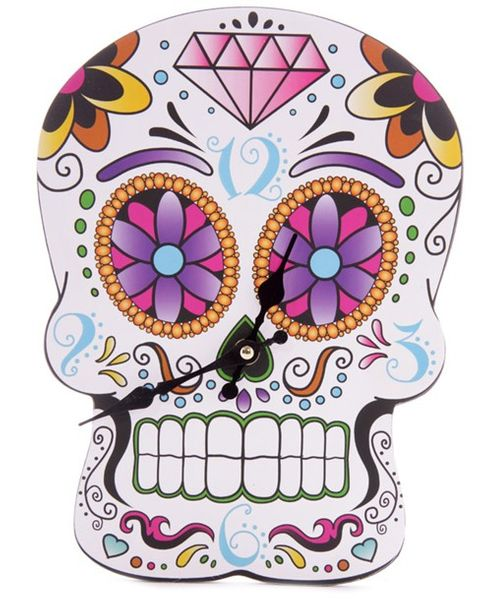 Bilderuhr Day of the Dead in Skull Form
