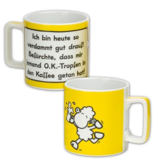 Sheepworld Wortheld Tasse OK -TROPFEN