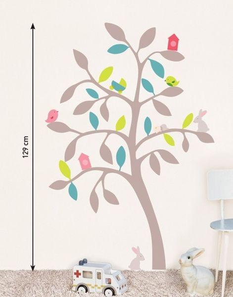Kinder Wandtattoo Bunter Baum