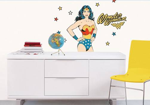 Kinder Wandtattoo Wonder Woman