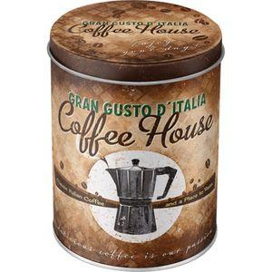 Metall Retro Vorratsdose rund Coffee House