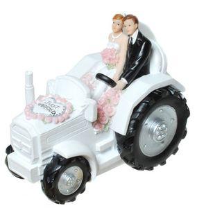 Spardose Brautpaar im Traktor