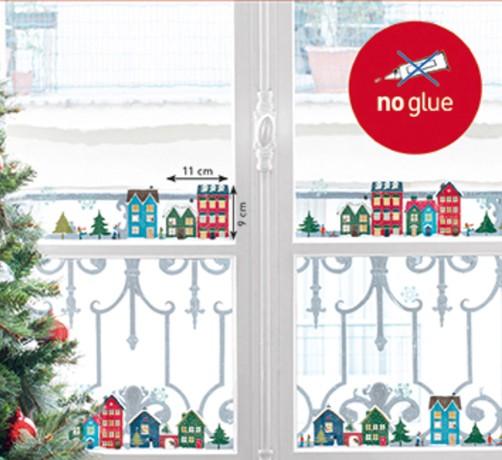 Xmas Fenstersticker Winter in der Stadt