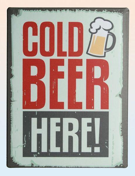 Blechschild Vintage Cold Beer