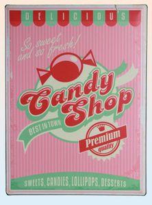 Blechschild Vintage Candy Shop
