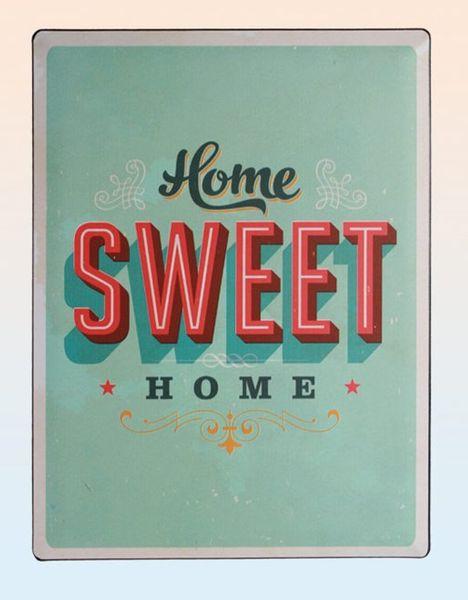 Blechschild Home sweet home