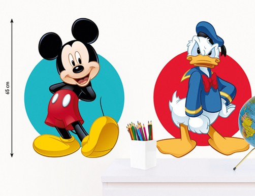 kinder wandtattoo disney mickey mouse und donald duck kinderzimmer aufkleber ebay. Black Bedroom Furniture Sets. Home Design Ideas