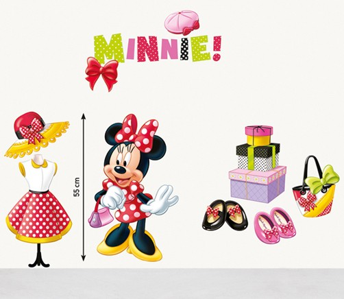 Kinder Wandtattoo Disney Minnie Mouse Fashion