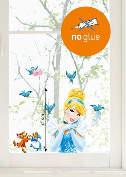 Kinder Disney Fenstersticker Cinderella
