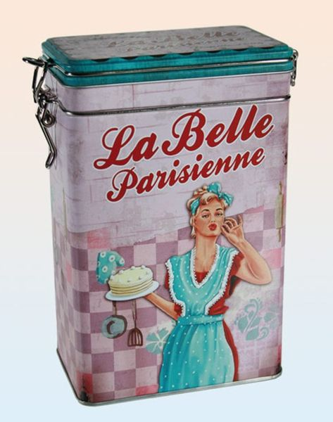 Metall Retro Vorratsdose La Belle Parisienne