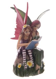 Elfenfigur Fairy Tales - Mutter und Tochter lesend