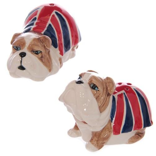 Salz & Pfefferstreuer Bulldogge Union Jack