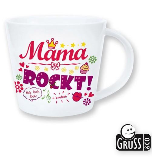 Gruss + Co Tasse Mama rockt weiß