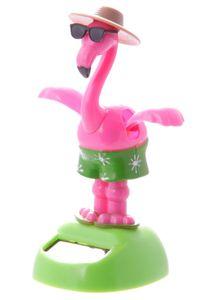 Solar Wackelfigur Dancing Flamingo mit Sonnenbrille