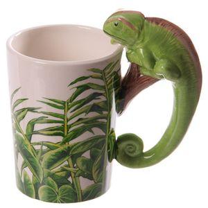 Tasse mit Chamäleon Griff
