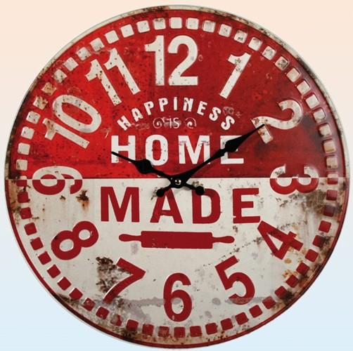 metall retro wanduhr home made 40 cm. Black Bedroom Furniture Sets. Home Design Ideas