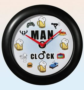Wanduhr Man Clock mit Sound